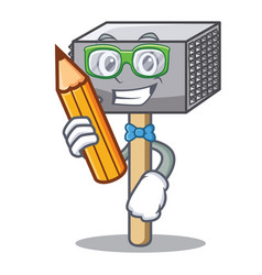 Student hammer cartoon for tenderizer the meat vector