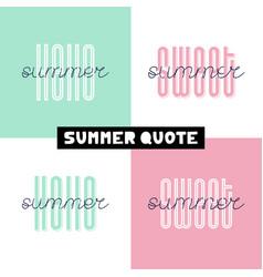 Summer hand drawn brush font letterings summer vector