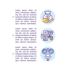 Supporting business sector concept icon with text vector