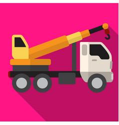 Truck flat icon vector