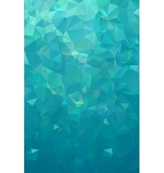 turquoise polygonal background northern lights vector image