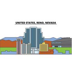 United states reno nevada city skyline vector