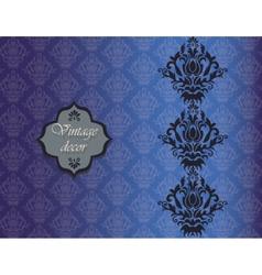 Vintage damask decor invitation pattern vector image