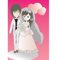 wedding doll vector image