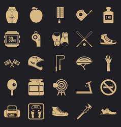 Weights icons set simple style vector