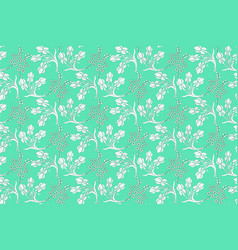 White floral pattern vector