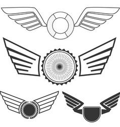 Wings set3 vector