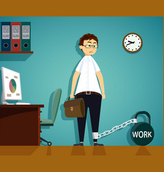 workplace in the office vector image