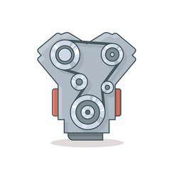 car engine icon vector image vector image
