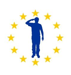 European salute vector image vector image