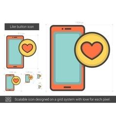 Like button line icon vector
