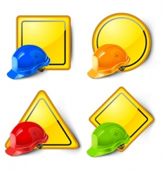 road signs icons vector image