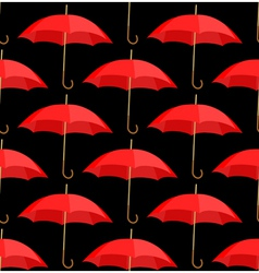 semless a background from red umbrellas vector image