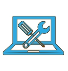 technical service computers icon vector image vector image