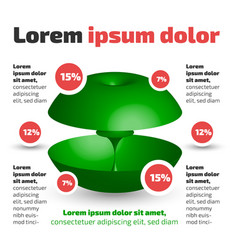 three dimensional circle shape infographic vector image