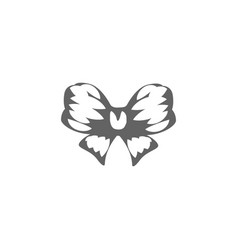 Isolated abstract black and white color bow logo vector