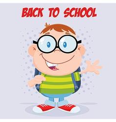 Nerdy child cartoon vector image