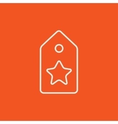 Tag with star line icon vector image