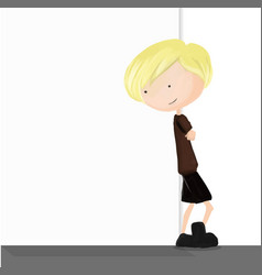 Children and blank wall background vector image vector image