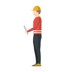delivery postman icon in flat design vector image