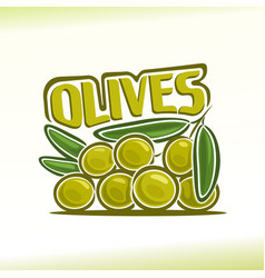 logo for olives vector image vector image