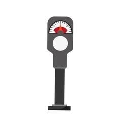 Parking meter icon vector