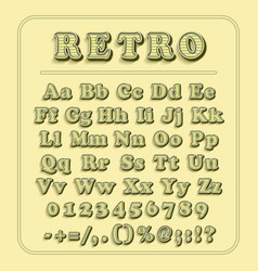 retro font on light yellow background the vector image