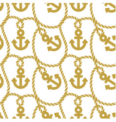 seamless pattern with anchors ongoing background vector image vector image