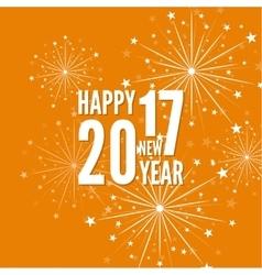 creative happy new year 2017 vector image vector image