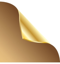 Folded edge of the sheet Gold vector image vector image