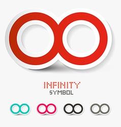 Infinity Symbols Set Isolated on White Background vector image vector image