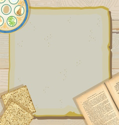 passover seder meal vector image vector image