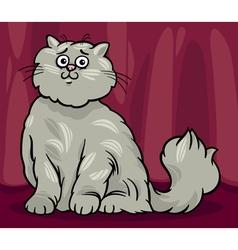 persian cat cartoon vector image vector image