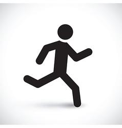 running stick man vector image vector image