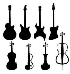 Set of string instruments vector image