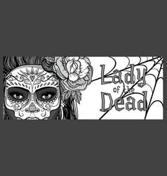 sugar skull woman vector image