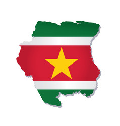 suriname flag amp map vector image vector image