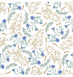 abstract floral seamless pattern hand drawing on vector image