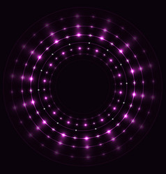 Abstract violet round frame vector