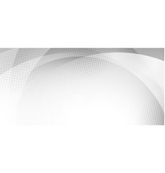 abstract white and gray curve circle background vector image