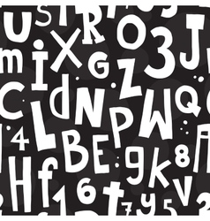 Alphabet black pattern vector image