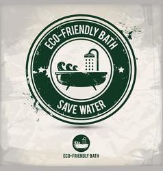 Alternative eco friendly bath stamp vector
