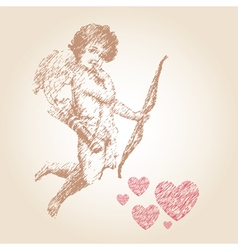 Angel or cupid llustration vector