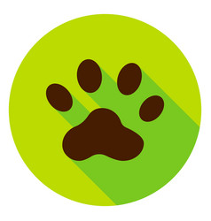 Animal track circle icon vector