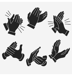 Applause clapping hands vector