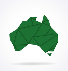 Australia map folded paper origami vector