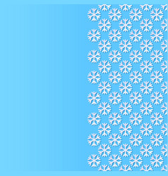 background with paper cut style snowflakes vector image