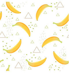 banana pattern healthy dessert fruit eating food vector image