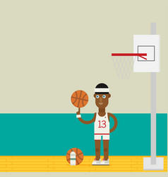 basketball player concept basketball player vector image