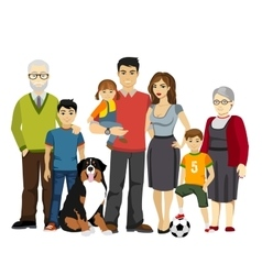 Big and Happy Family vector